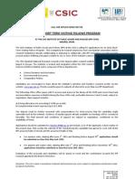 IPP Call for Short Term Visiting Fellows Program 2011