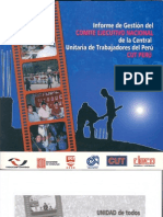 Informe de Gestion de Cen de CUT PERU