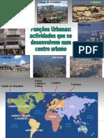 Apresentação das funções das cidades