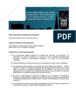 Bases del concurso de piezas promocionales para el Plan Municipal de Lectura y la Fiesta del Libro y la Cultura