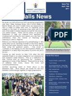 Halls Newsletter Issue 2 2011