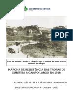 MARCHA DE RESISTÊNCIA DAS TROPAS DE CURITIBA A CAMPO LARGO EM 1918
