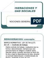 REMUNERACIONES Y CARGAS SOCIALES