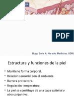 Dermatologia - Capitulo I Honeyman - Estructuras y funciones de la piel - Hugo Solis 4to Medicina UDM.