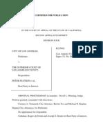 City of Los Angeles v Superior Court, No B225082 (Cal Ct App Apr 12 2011)