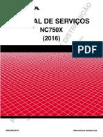 Serviço NC750X (2016)