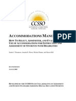 SPED AccommodationsManual