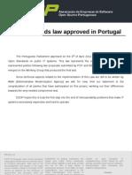 ESOP PR_Open_Standards_Law_Approved