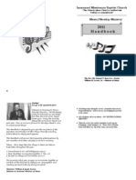 Immanuel Missionary Baptist Church Music Ministry Handbook 2011