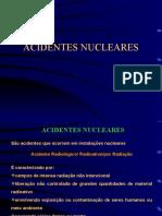 ACIDENTES NUCLEARES - apresentação PowerPoint