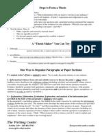 ThesisStatementandOrganizingParagraphs,5 07