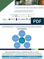 Disponibilidad y calificacion del recurso humano 2