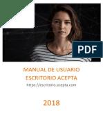 0.Manual Escritorio Acepta