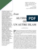 Ali Shariati Ou Un Autre Islam