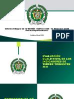 Informe Integral de Gestion 3 Trimestre de 2020