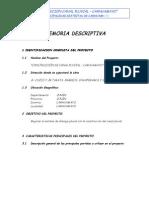 Memoria Descriptiva de Construccio Canal Pluvial-Carhuamayo