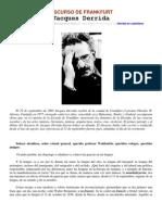 DISCURSO DE FRANKFURT