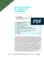 p1076 determination de structures cristalines par rayons X methodes et appllicaion