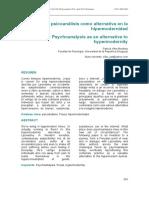 El Psicoanalisis Como Alternativa en La Hipermodernidad