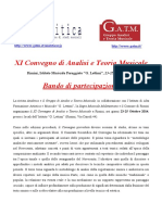 XI Convegno - Call for papers