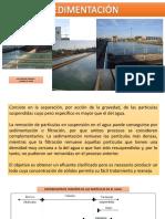 Filtración Sedimentación