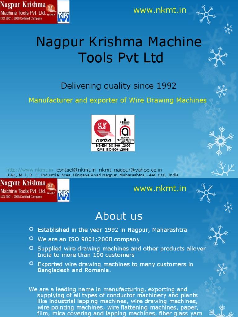 Manufacturer In Nagpur: Nagpur Krishma Machine Tools Pvt Ltd