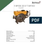 Peças - Motor Buffalo BFDE 22