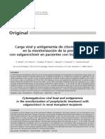 Profilaxis de citomegalovirus