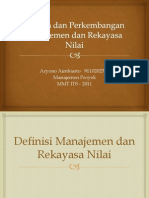Sejarah Dan Perkembangan Manajemen