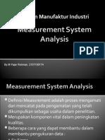 Measurement System Analysis Fajar1
