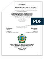 Synopsis(hotel mgt system VB .Net)