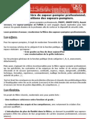 foto de Proposition de la Réforme de la filière pompiers | Services ...