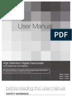 Samsung Camcorder HMX-T10N English User Manual