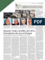 """BASSETTI, VITALE E LA LOBBY DEL """"51%"""" LA BORGHESIA CHE STA CON PISAPIA (IL SOLE 24 ORE LOMBARDIA)"""