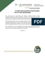 Comisión Verdad - documentos caso Ayotzinapa