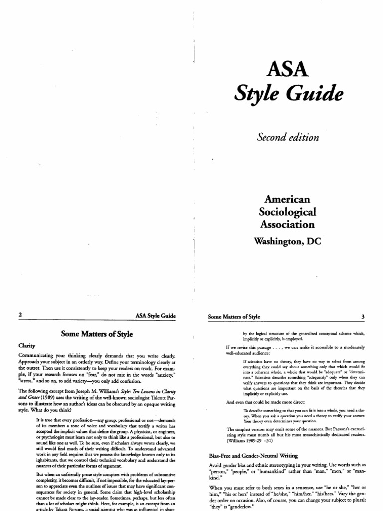asa style guidelines