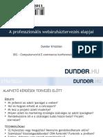 A Professzionális Webáruháztervezés Alapjai - DUNDER.HU