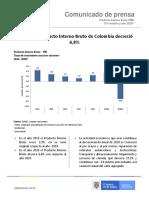 PIB COLOMBIA IV TRIMESTRE Y AÑO 2020