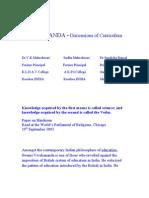 VIVKANANDA-Dimensions of Curriculum
