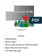 Week 2 - Intro to HTML