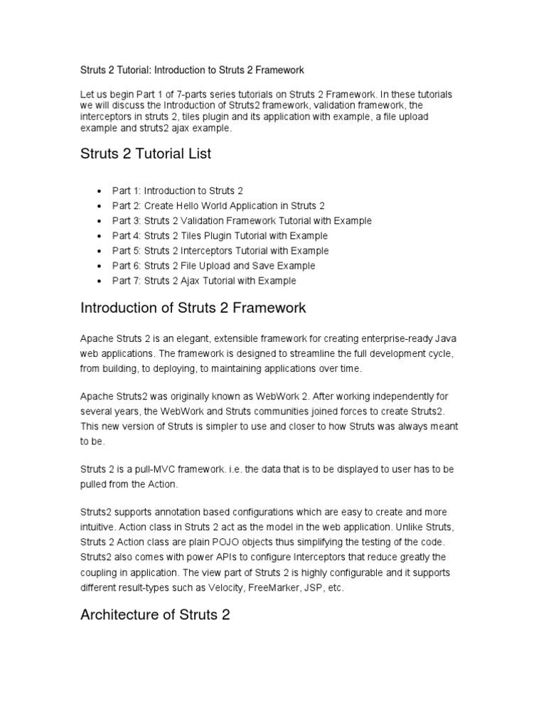 Struts 2 Tutorial | Computing Platforms | Redes sociales y