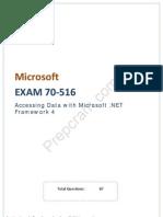 Microsoft 70-516 Exam Dumps