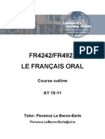 FR4242 Course Outline Oral