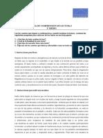 GUÍA DE COMPRENSIÓN DE LECTURA I