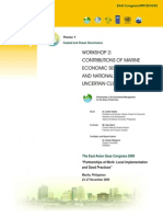 Proceedings of the Workshop on Contributions of Marine Economic Sectors to Regional and National GDP in an Uncertain Climate