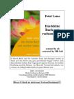 [eBook] Dalai Lama -- Das kleine Buch vom rechten Leben (Herder Verlag 1998, Buddhismus)