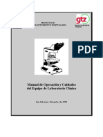Manual de Cuidado de Equipo de Laboratorio clinico