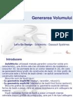 SOLIDWORKS - Generarea Volumelor schiței (functie)