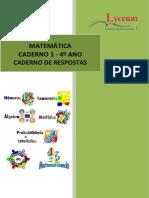 4 Ano Caderno 1 Matematica Caderno de respostas 2021