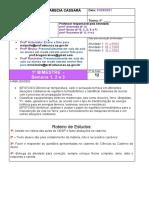 8º Ano_Ciências_Atividade 01- 01 a 19 de Março
